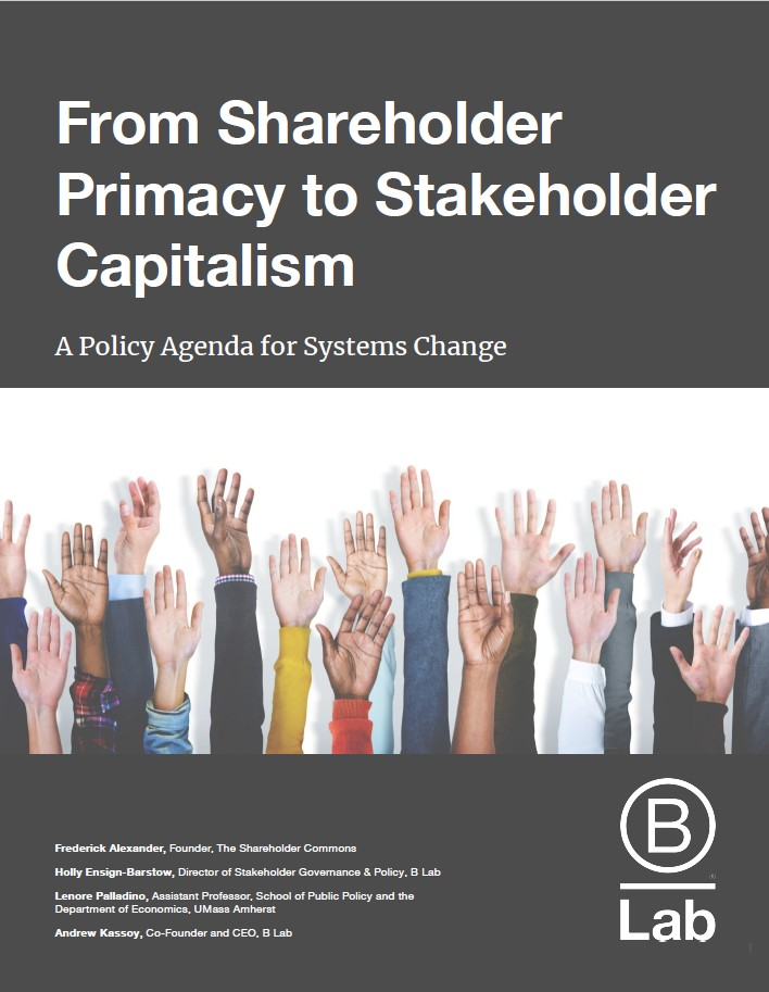 Stakeholder Capitalism | Certified B Corporation
